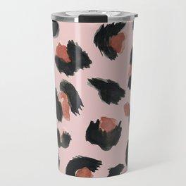 Pink Animal Leopard Travel Mug
