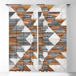 Urban Tribal Pattern No.12 - Aztec - Wood Blackout Curtain