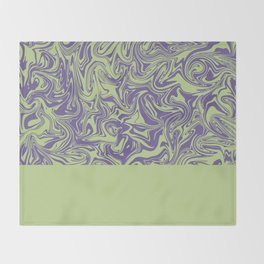 Liquid Swirl - Lettuce Green and Ultra Violet Throw Blanket