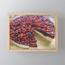 Cheesecake of red fruits Framed Mini Art Print