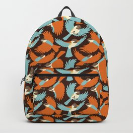 Chickadees in Brown Backpack