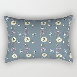 Birds And Dots Rectangular Pillow