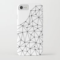 polygon iPhone & iPod Cases featuring Polygon by Boneva