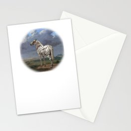 The horse blanc noir  Stationery Cards