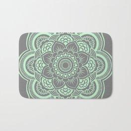 Mandala Flower Gray & Mint Bath Mat