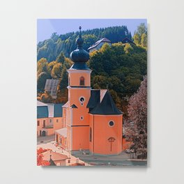 The village church of Helfenberg III | architectural photography Metal Print