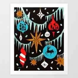 Mid Century Modern Christmas Tree Art Print