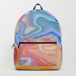 Liquid Rainbow Agate Gem Backpack