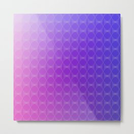 Pink to Purple Scale Ombre Circle Gradient Metal Print