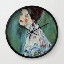 "Gustav Klimt ""Portrait of a lady"" Wall Clock"