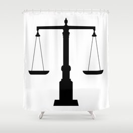 weight scale Shower Curtain
