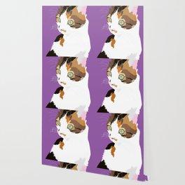 Saffy (Pet Portrait & Violet Background) Wallpaper
