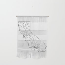 California White Map Wall Hanging