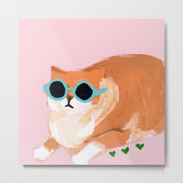 sunglass cat Metal Print