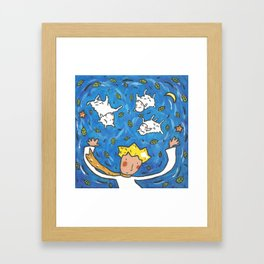 The Little Prince and Sheep Framed Art Print