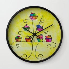 Cupcake Display Wall Clock