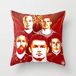 Russia football poster Throw Pillow