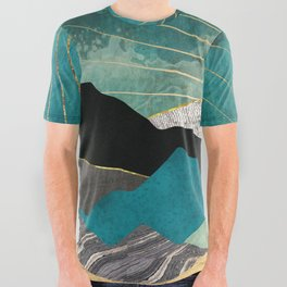 Peacock Vista All Over Graphic Tee