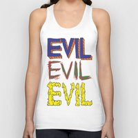 evil Tank Tops featuring Evil by Michael Interrante