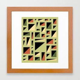 Half Triangle Lime Framed Art Print