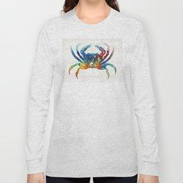 Colorful Crab Art by Sharon Cummings Long Sleeve T-shirt