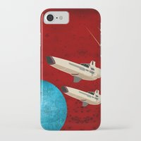 battlestar galactica iPhone & iPod Cases featuring Galactica by Tony Vazquez