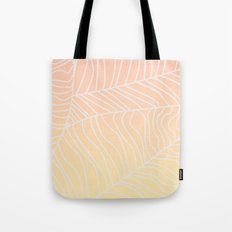TROPICAL LEAF - dreamy look (pink and yellow) Tote Bag