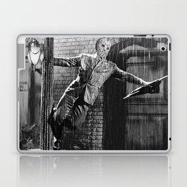 Jason Vorhees sings in the rain Laptop & iPad Skin
