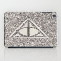 deathly hallows iPad Cases featuring deathly hallows by Clara Lucie P