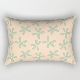 Green & Pink Floral Rectangular Pillow