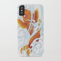 koi fish iPhone & iPod Cases featuring Koi Fish by Give me Violence