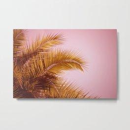 Rose Gold Tropics Metal Print