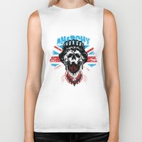 anarchy Biker Tanks featuring Anarchy queen by Tshirt-Factory