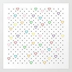 Candy Heart Spots Art Print
