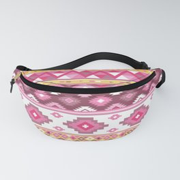 Modern Boho Aztec – Mulberry Pink and Plum Violet Fanny Pack