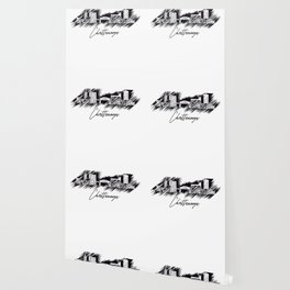 Chattanooga graphic scribble skyline in black Wallpaper