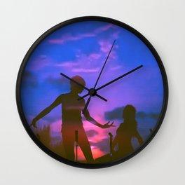 Luna Llena Color Wall Clock