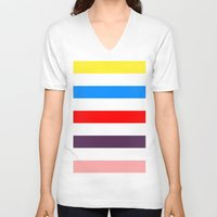 madoka V-neck T-shirts featuring Madoka Colors by Subtle Tee