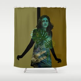 The Blue Girl Shower Curtain