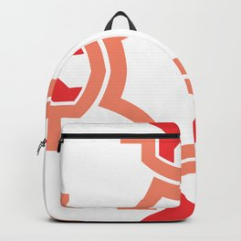 Red four sides Backpack