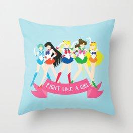Fight Like a Girl: Sailor Senshi Throw Pillow