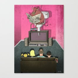 What's On TV Canvas Print