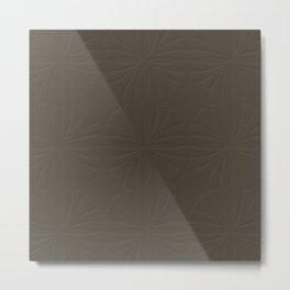 Deep Bronze Taupe Metal Print