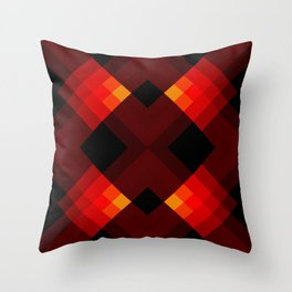 Abstract Retro Pattern 17 Throw Pillow