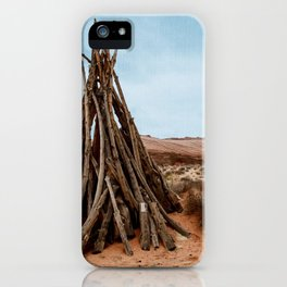 Triangle Wood Trunk iPhone Case