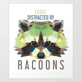 Raccoon Pet Parent Art Print