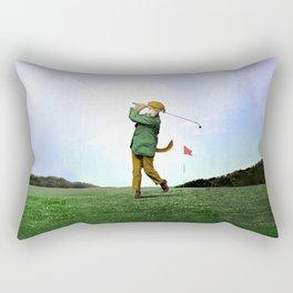 Sir Terrance Terrier Golfing Rectangular Pillow