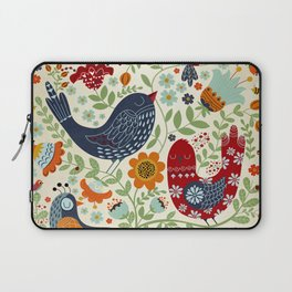 BIRDS AND FLOWERS Laptop Sleeve