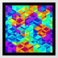 Geometric colour Art Print