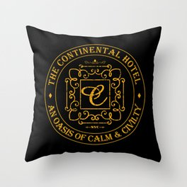 John Wick - The Continental Hotel Throw Pillow